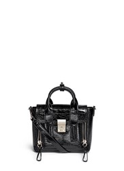 3.1 Phillip Lim 'Pashli' Mini Patent Leather Satchel Black