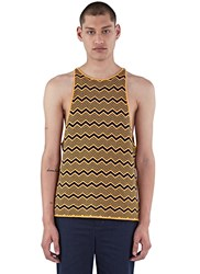 Wales Bonner Depara Zigzag Knit Vest Top Yellow