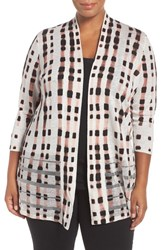 Nic Zoe Plus Size Women's 'Island Time' Print Open Front Cardigan Multi