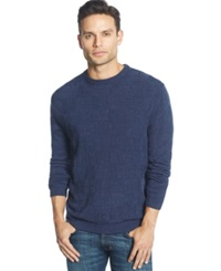 Weatherproof Basketweave Sweater Navy Marl