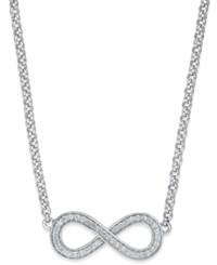 Thomas Sabo Cubic Zirconia Infinity Pendant Necklace In Sterling Silver