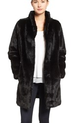 Eliza J Women's Faux Mink Fur Coat