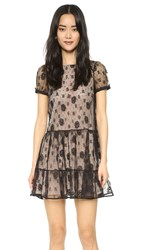 Red Valentino Lace Bow Back Dress Black