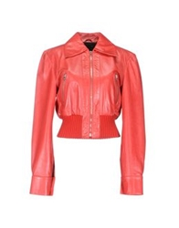 John Richmond Leather Outerwear Red