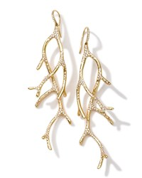 18K Gold Stardust Multi Branch Earrings With Diamonds Ippolita