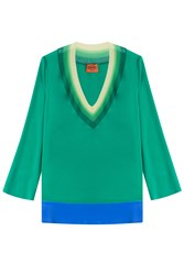 Missoni Silk Blend Tunic Blouse Green
