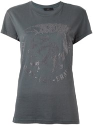 Diesel 'Only The Brave' T Shirt Grey