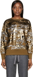 Isabel Marant Olive And Gold Camo Sequined Hamilton Sweatshirt