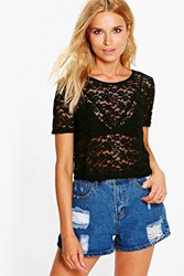 Mandy Lace Crop Shirt Top