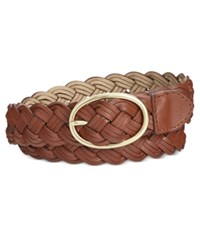 Styleandco. Style And Co. Triple Braid Woven Belt Only At Macy's Cognac