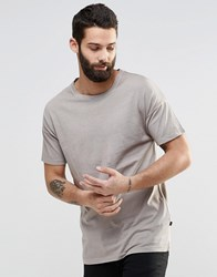 Only And Sons Crew Neck T Shirt With Drop Shoulder Detail Crockery Stone