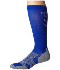 Thorlos Experia Energy Over The Calf Single Pair Royal Crew Cut Socks Shoes Navy