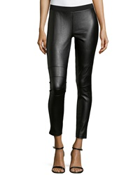 Romeo And Juliet Couture Faux Leather And Ponte Leggings Black