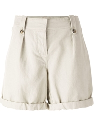 Burberry Brit Turned Up Cuff Shorts Grey