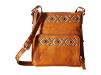 American West Moon Dancer Crossbody Wallet Golden Tan Sand Cross Body Handbags Brown