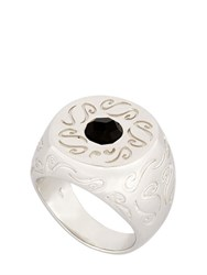 Marco Ta Moko Ara Engraved Ring With Onyx