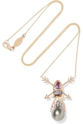 Daniela Villegas Crossroads 18 Karat Rose Gold Multi Stone Necklace