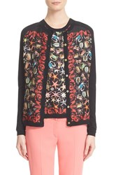Women's Versace Collection Starfish Print Silk And Cotton Cardigan