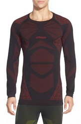 Spyder 'Captain' Compression Base Layer Top Black Volcanao