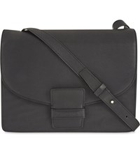 Dries Van Noten Pebbled Leather Shoulder Bag Black
