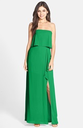 Bcbgmaxazria 'Felicity' Georgette Popover Gown Kelly Green