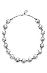 Women's Karine Sultan Faux Pearl Collar Necklace Silver