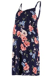 New Look Nadine Summer Dress Blue Pattern