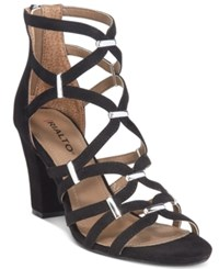 Rialto Raylene Strappy Sandals Women's Shoes Black