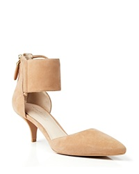 Kenneth Cole Suede Ankle Cuff Pumps Paddy Nude