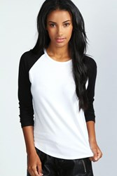 Boohoo Oversized Baseball T Shirt Black