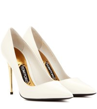 Tom Ford Patent Leather Pumps White
