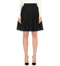 Reiss Amythist Textured A Line Skirt Black