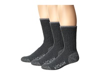 Wigwam All Weather 3 Pack Medium Grey Crew Cut Socks Shoes Gray