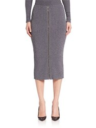Theory Ornita A Line Skirt Navy Mix