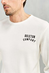 Brixton Woodburn Thermal Long Sleeve Tee White