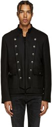 Balmain Pierre Black Wool Military Jacket