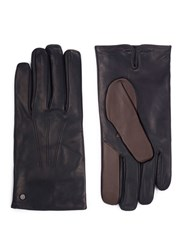 Merola Gloves Cashmere Lined Leather Short Black