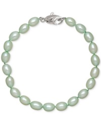 Honora Style Mint Cultured Freshwater Pearl Bracelet In Sterling Silver 7 8Mm