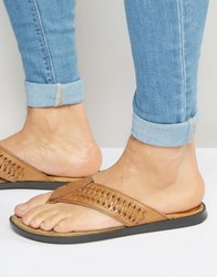Red Tape Toe Post Sandals Tan