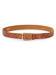 Streets Ahead Pyramid Studded Leather Belt Tan