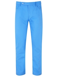 Bunker Mentality Straight Leg Casual Tailored Trousers Blue