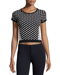 Romeo And Juliet Couture Knit Crop Top Black White