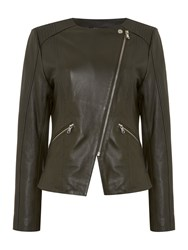 Therapy Billie Leather Jacket Olive