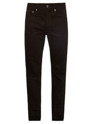 Givenchy Star Embroidered Straight Leg Jeans Black