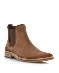 Dune Manderin Square Toe Chelsea Boots Taupe
