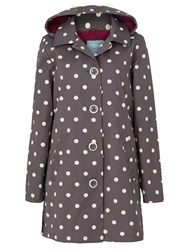 Tulchan Spot Print Fleece Lined Mac Grey