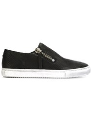 Diesel Textured Leather Sneakers Black