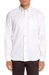 Ted Baker Men's Big And Tall London Trim Fit Oxford Shirt White