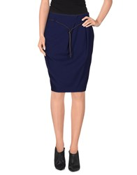Le Tricot Perugia Skirts Knee Length Skirts Women Bright Blue