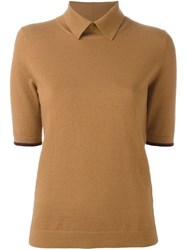 Wood Wood 'Darlene' Polo Shirt Brown